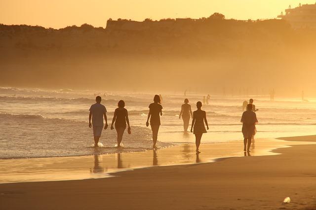 beach, human, go for a walk